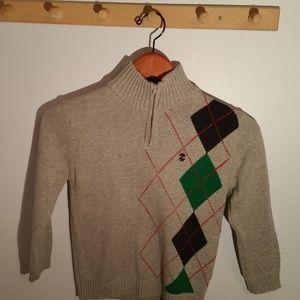 Izod Size 7 Gray Argyle Pattern Sweater